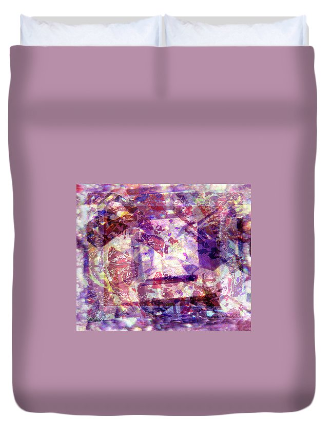 Abstract Duvet Cover featuring the digital art Abstacked by Seth Weaver