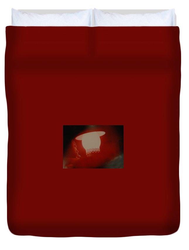 Lantern Duvet Cover featuring the photograph Abstarct Sea Lantern by Rob Hans