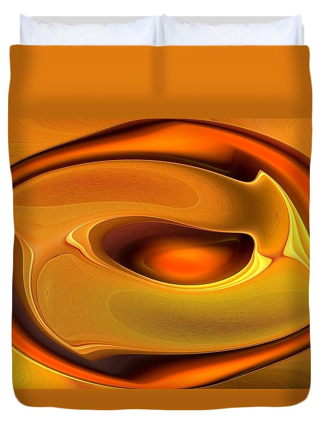 Abstract Duvet Cover featuring the digital art Abstrac8-15-09 by David Lane