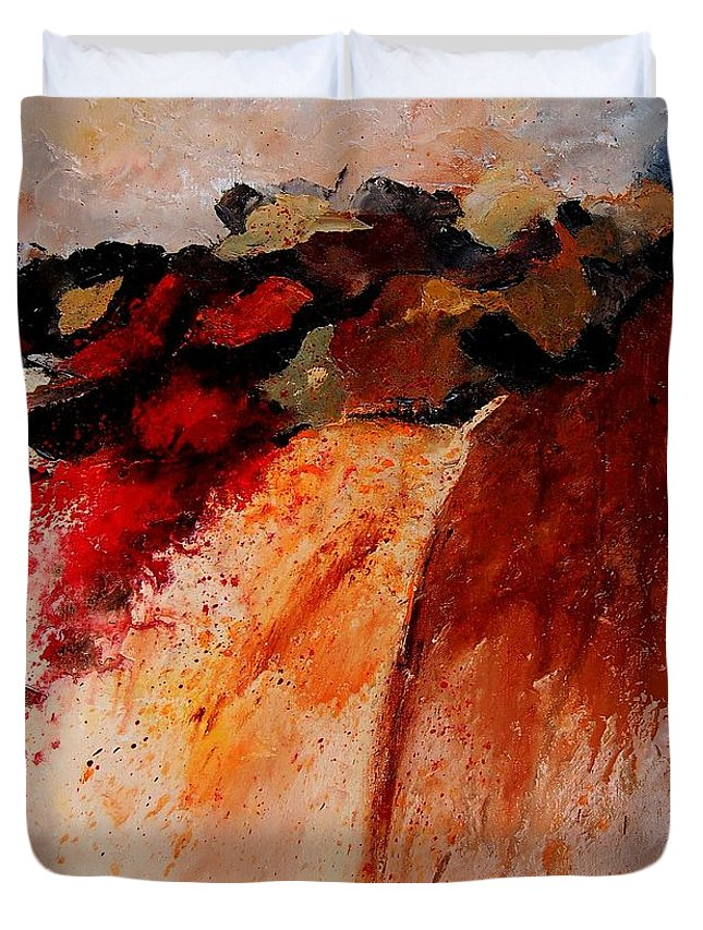 Abstract Duvet Cover featuring the painting Abstract 010607 by Pol Ledent