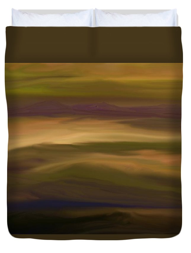 Fine Art Duvet Cover featuring the digital art Abstract 013111 by David Lane