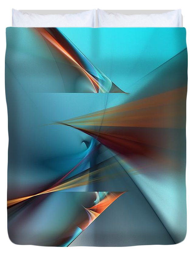 Fine Art Duvet Cover featuring the digital art Abstract 040411 by David Lane