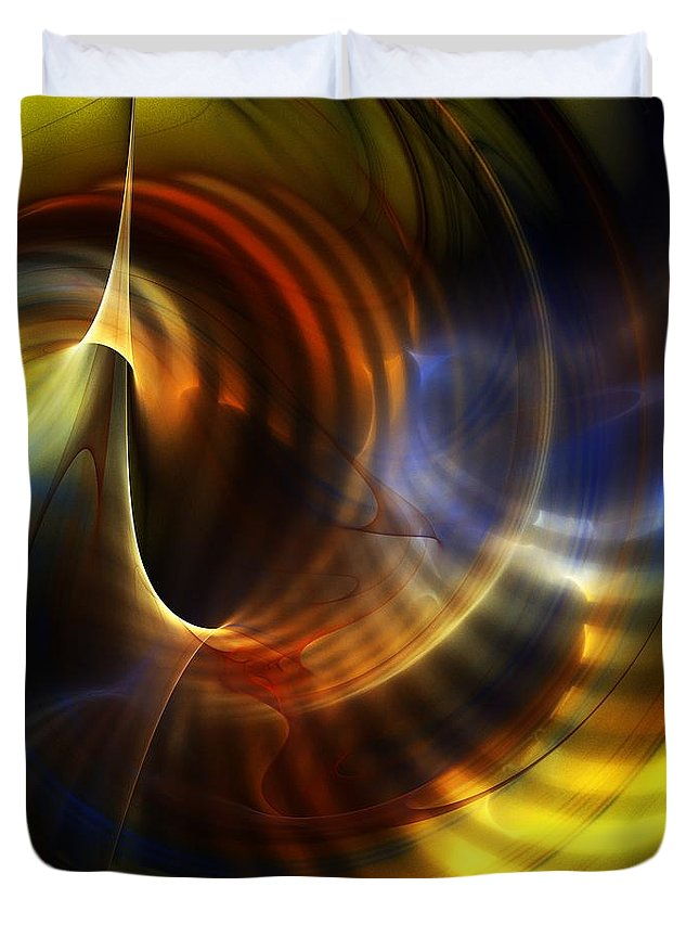 Fine Art Duvet Cover featuring the digital art Abstract 040511 by David Lane