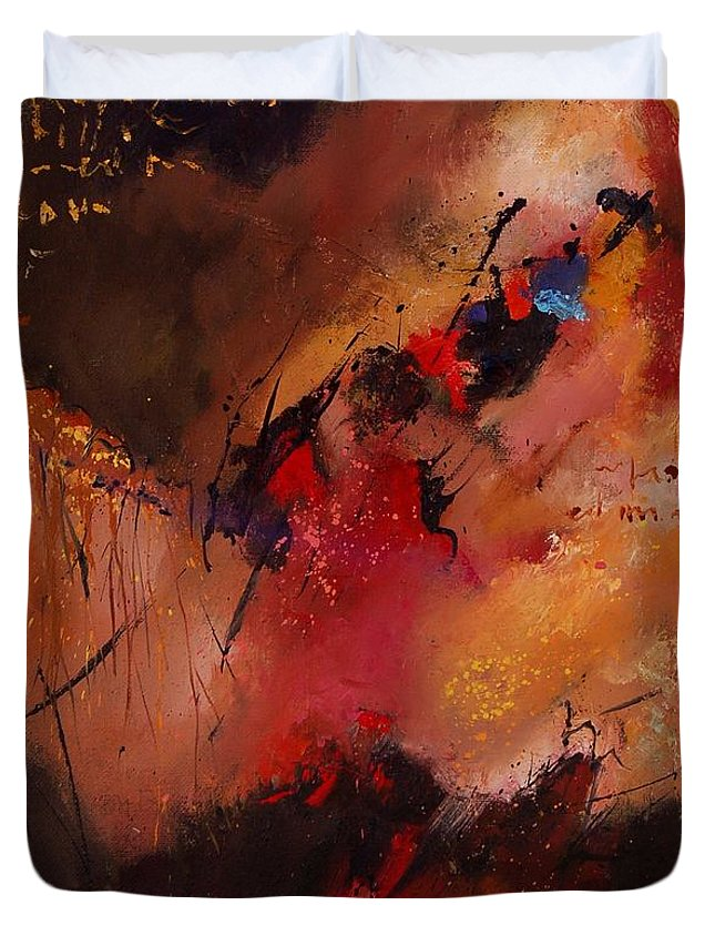 Abstract Duvet Cover featuring the painting Abstract 0408 by Pol Ledent