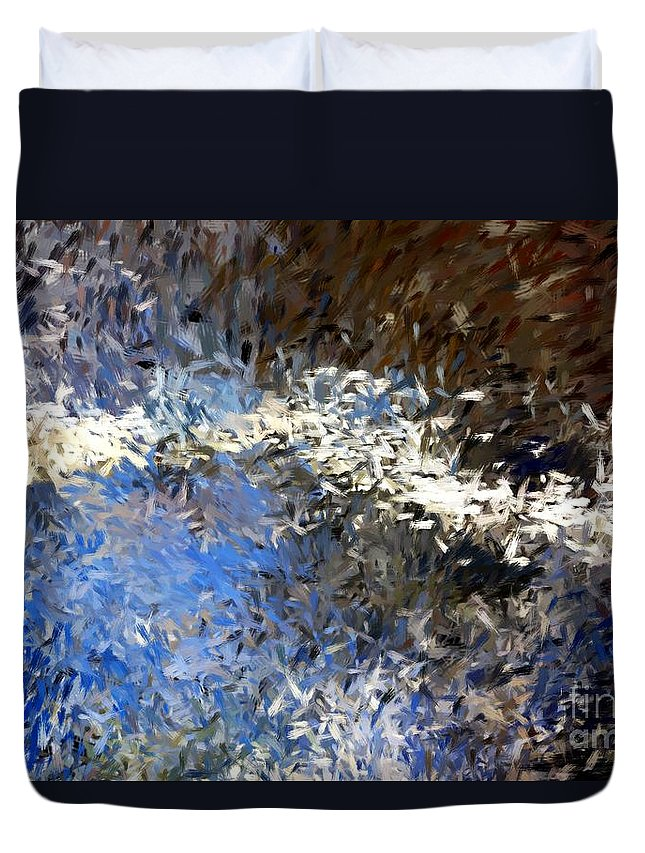 Abstract Duvet Cover featuring the digital art Abstract 06-03-09b by David Lane
