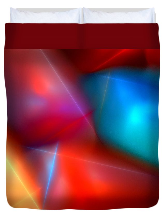 Digital Painting Duvet Cover featuring the digital art Abstract 060110 by David Lane
