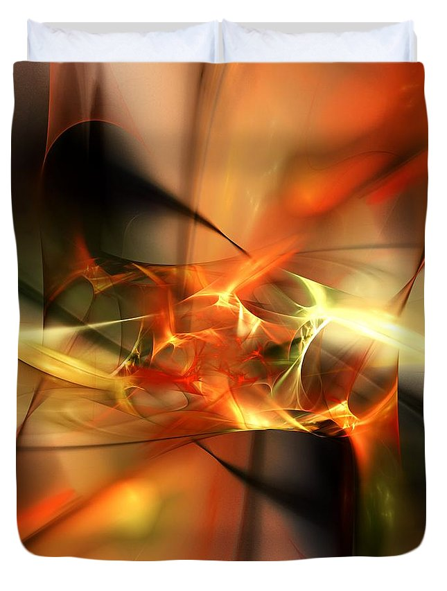 Digital Painting Duvet Cover featuring the digital art Abstract 060110a by David Lane