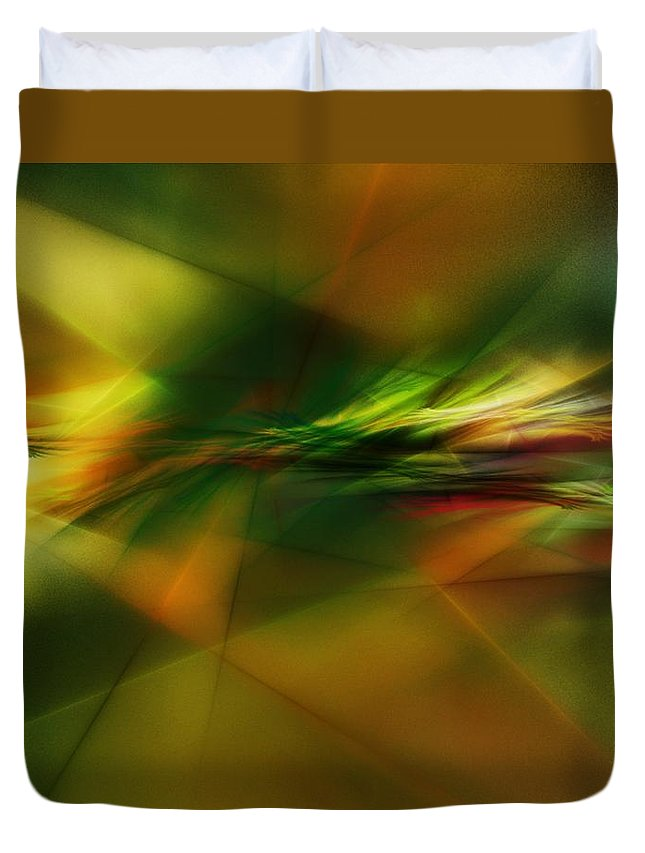 Digital Painting Duvet Cover featuring the digital art Abstract 060210 by David Lane