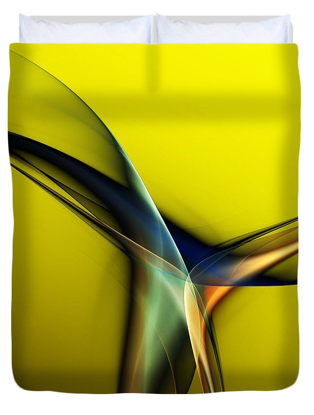 Fine Art Duvet Cover featuring the digital art Abstract 060311 by David Lane