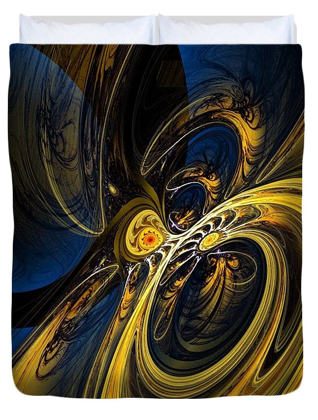 Abstract Duvet Cover featuring the digital art Abstract 060910 by David Lane