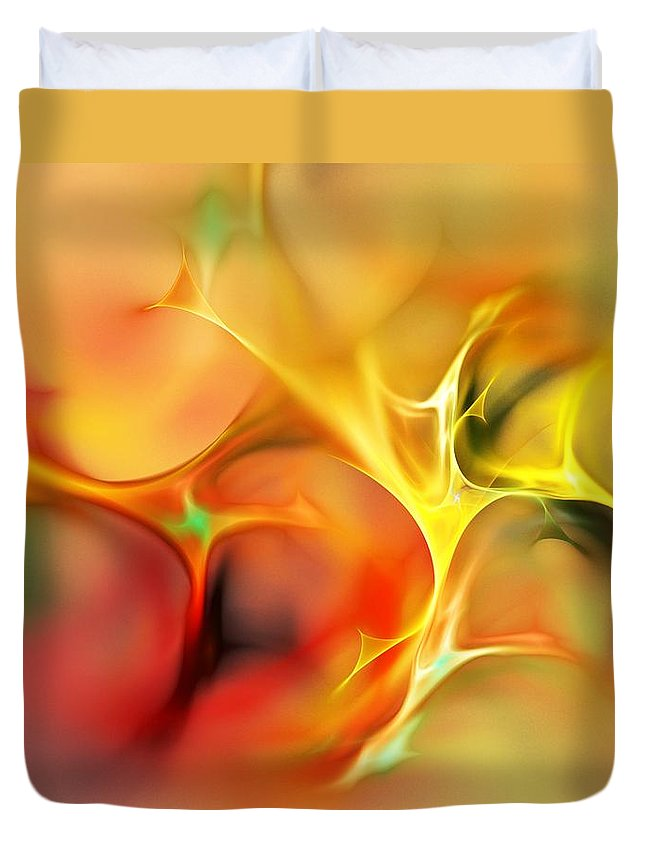 Abstract Duvet Cover featuring the digital art Abstract 061410A by David Lane
