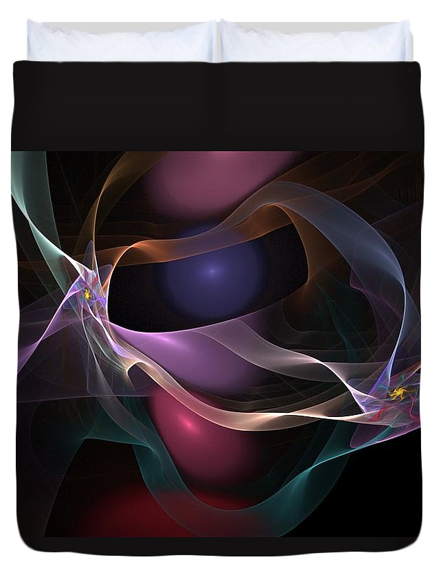 Fine Art Duvet Cover featuring the digital art Abstract 062310 by David Lane