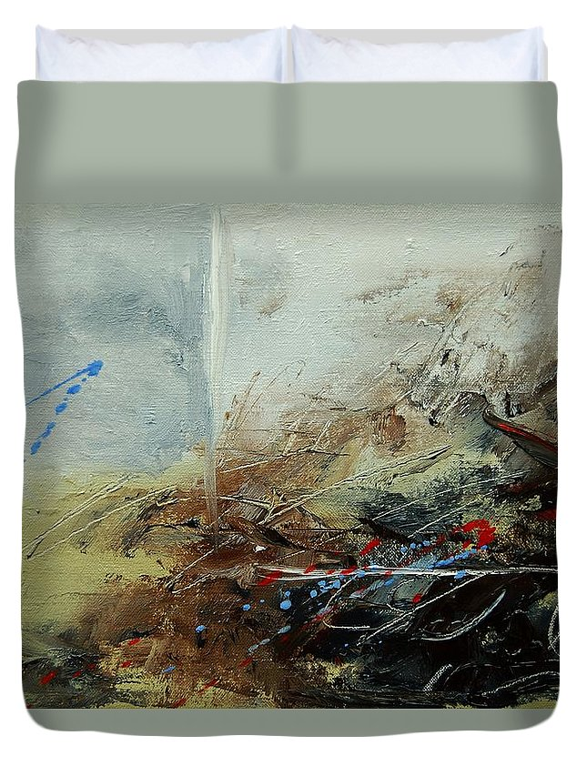 Abstract Duvet Cover featuring the print Abstract 070408 by Pol Ledent