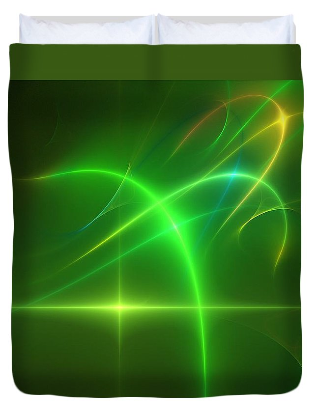 Abstract Duvet Cover featuring the digital art Abstract 081210 by David Lane