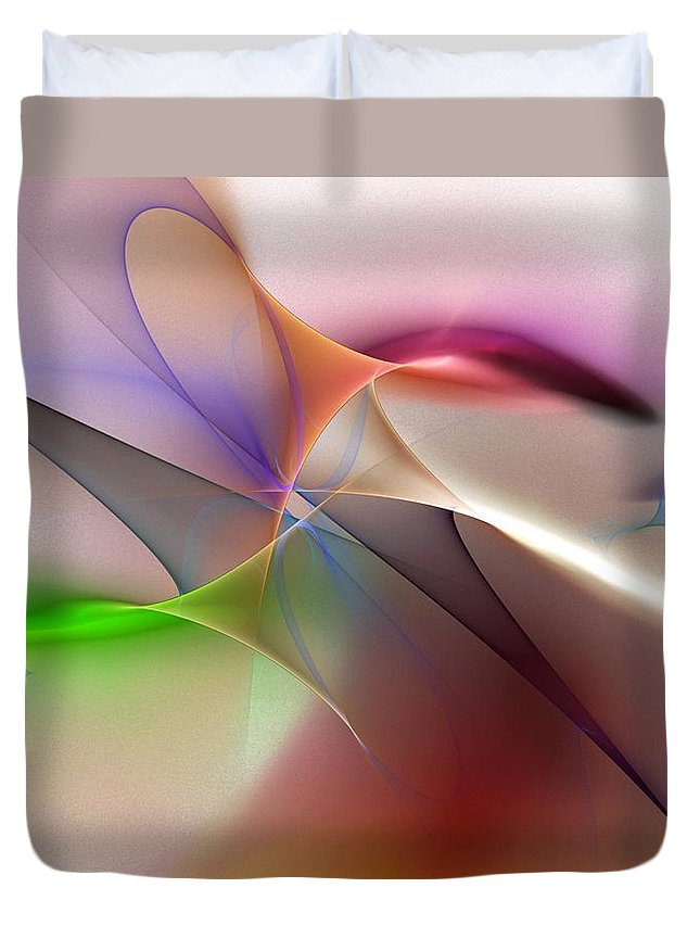 Fine Art Duvet Cover featuring the digital art Abstract 082710 by David Lane