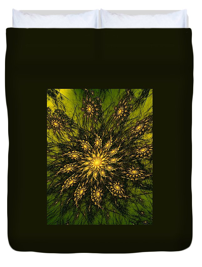 Fractal Duvet Cover featuring the digital art Abstract 090110 by David Lane