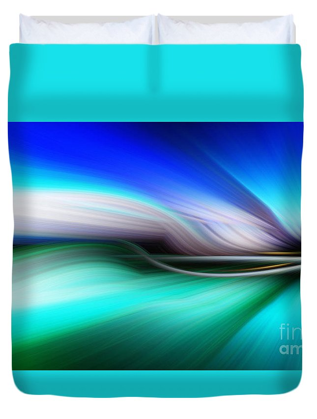Art Duvet Cover featuring the photograph Abstract 0902 M by Howard Roberts