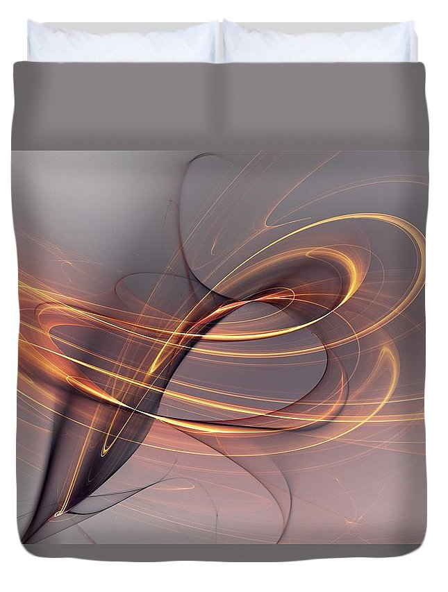 Fine Art Duvet Cover featuring the digital art Abstract 090411 by David Lane