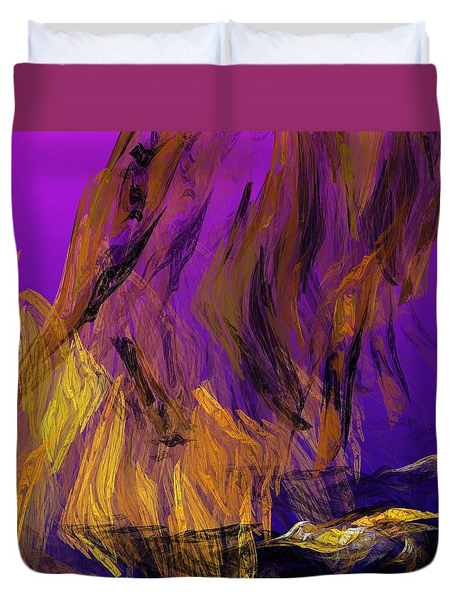Abstract Digital Painting Duvet Cover featuring the digital art Abstract 10-16-09-3 by David Lane