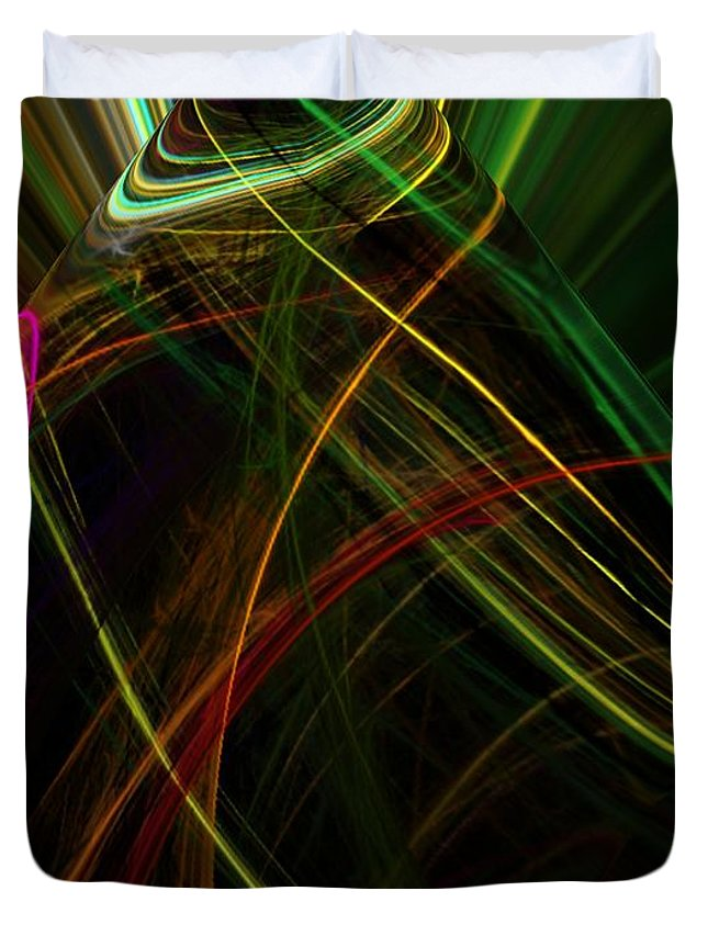Abstract Digital Painting Duvet Cover featuring the digital art Abstract 10-16-09 by David Lane
