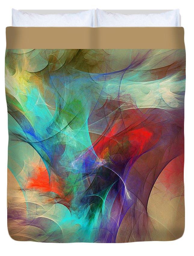 Fine Art Digital Art Duvet Cover featuring the digital art Abstract 103010 by David Lane