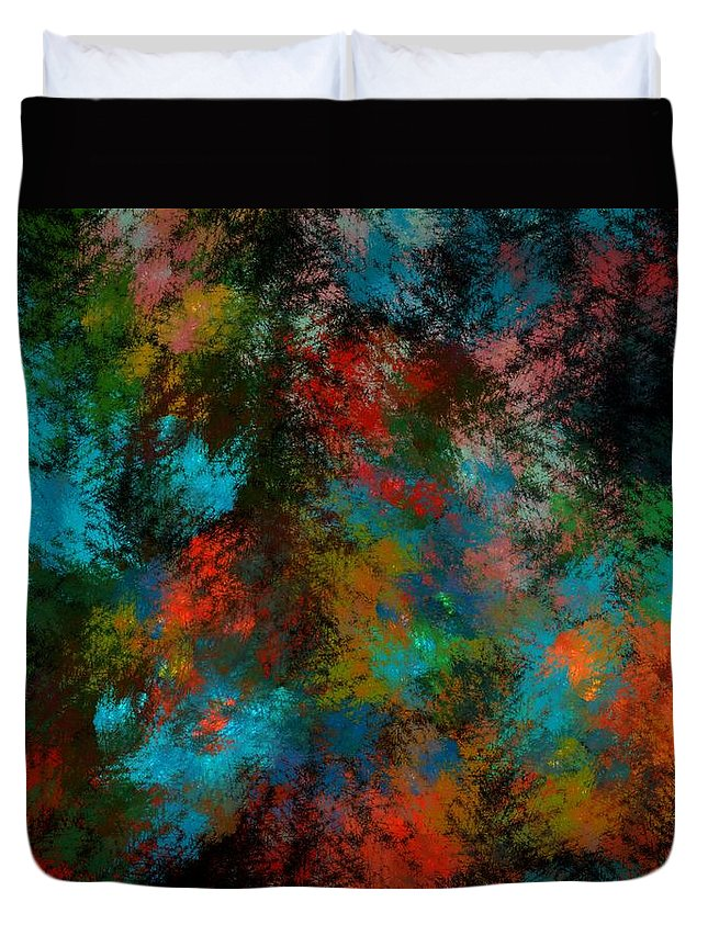 Abstract Digital Painting Duvet Cover featuring the digital art Abstract 11-18-09 by David Lane