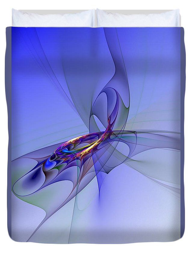 Fine Art Digital Art Duvet Cover featuring the digital art Abstract 110210 by David Lane
