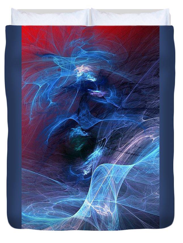 Fine Art Digital Art Duvet Cover featuring the digital art Abstract 111610 by David Lane