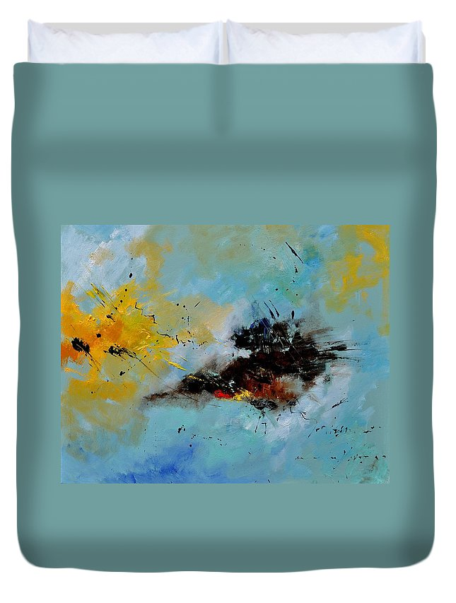 Abstract Duvet Cover featuring the painting Abstract 1811803 by Pol Ledent