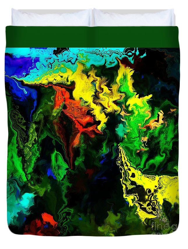 Abstract Duvet Cover featuring the digital art Abstract 2-23-09 by David Lane