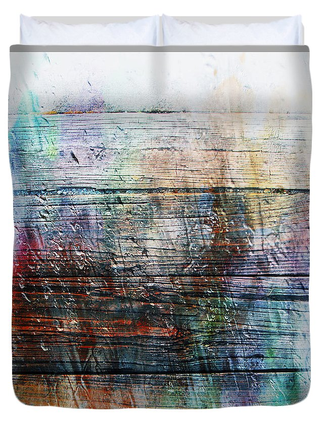 Abstract Duvet Cover featuring the painting 2e Abstract Expressionism Digital Painting by Ricardos Creations