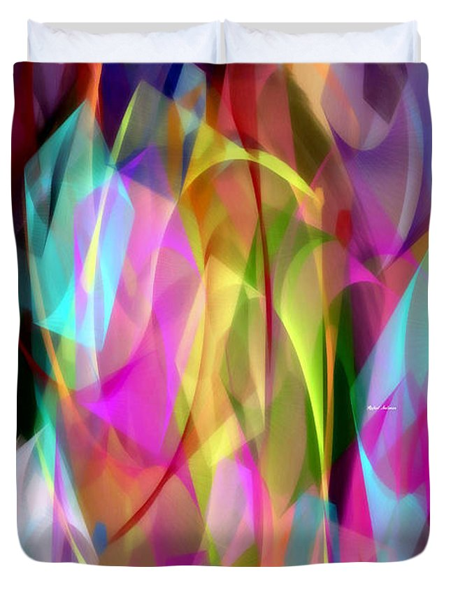 Rafael Salazar Duvet Cover featuring the digital art Abstract 3366 by Rafael Salazar