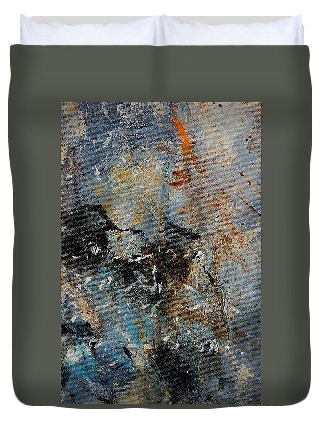 Abstract Duvet Cover featuring the painting Abstract 4526987 by Pol Ledent