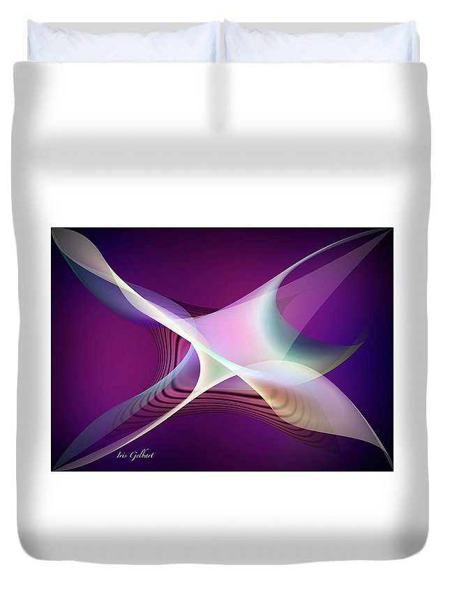 Abstract Duvet Cover featuring the digital art Abstract 4579 by Iris Gelbart
