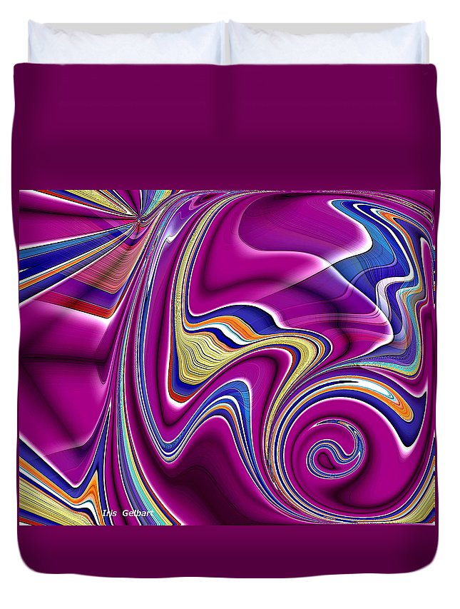 Abstract Duvet Cover featuring the digital art Abstract #49 by Iris Gelbart