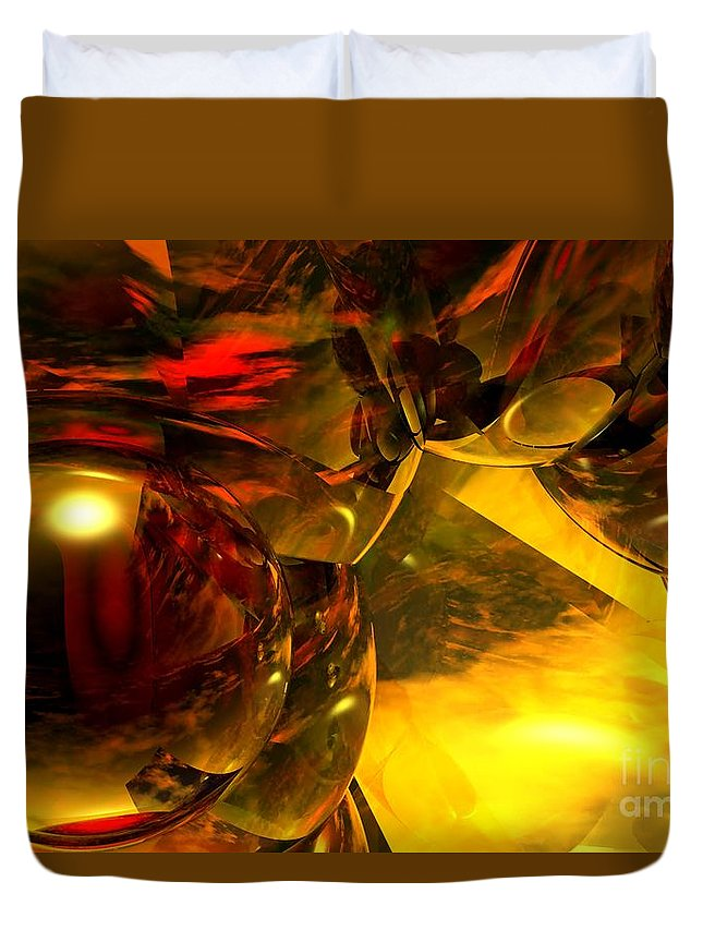 Abstract Duvet Cover featuring the digital art Abstract 5-21-09 by David Lane