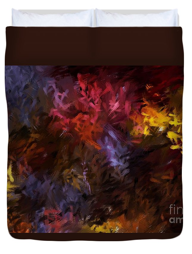 Abstract Duvet Cover featuring the digital art Abstract 5-23-09 by David Lane