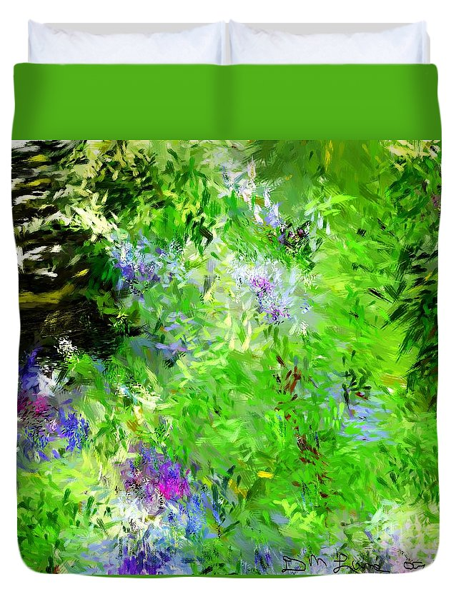 Abstract Duvet Cover featuring the digital art Abstract 5-26-09 by David Lane