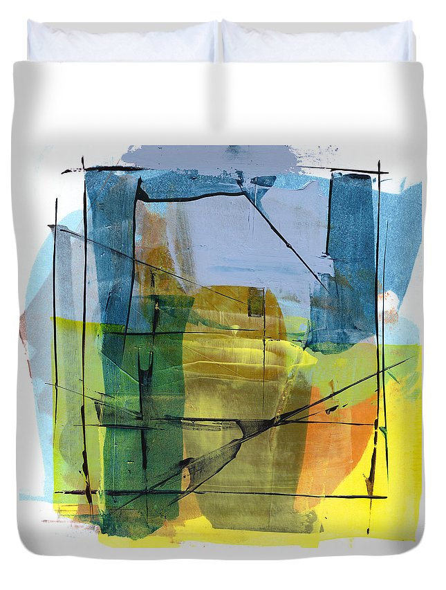 Abstract Duvet Cover featuring the painting Rcnpaintings.com by Chris N Rohrbach