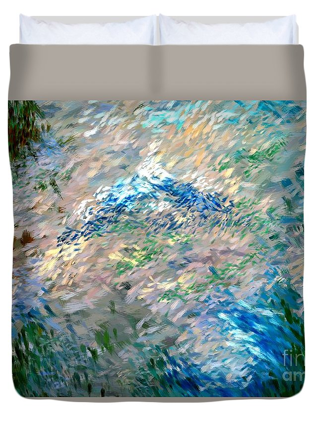 Abstract Duvet Cover featuring the digital art Abstract 6-03-09 A by David Lane