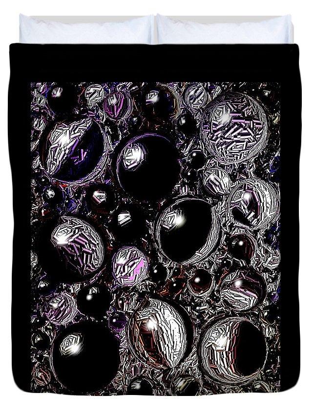 Digital Art Duvet Cover featuring the digital art Abstract 63016.10 by Belinda Cox