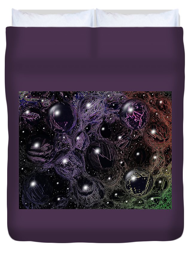 Digital Art Duvet Cover featuring the digital art Abstract 63016.11 by Belinda Cox