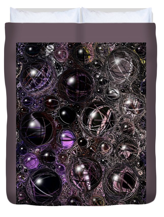 Digital Art Duvet Cover featuring the digital art Abstract 63016.12 by Belinda Cox