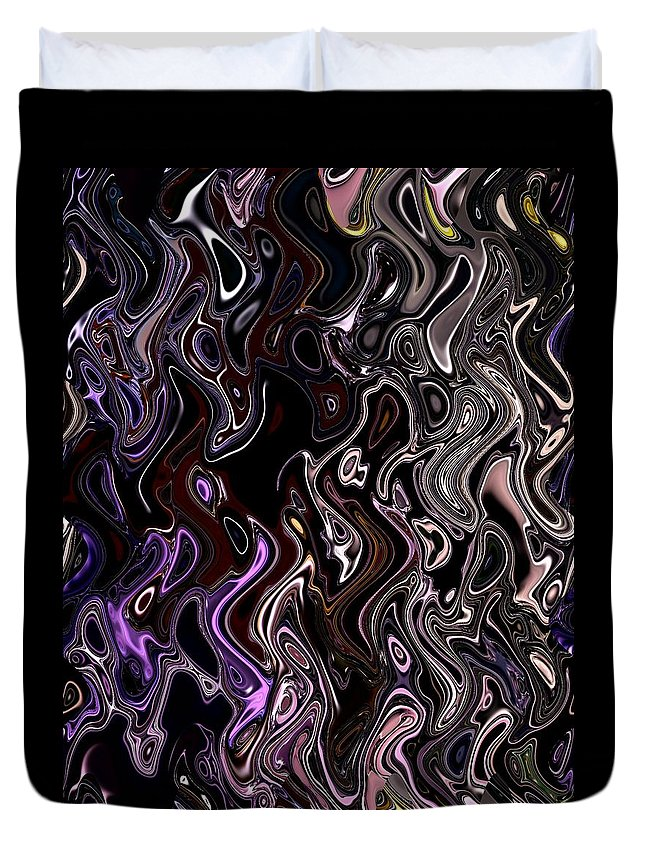 Digital Art Duvet Cover featuring the digital art Abstract 63016.7 by Belinda Cox