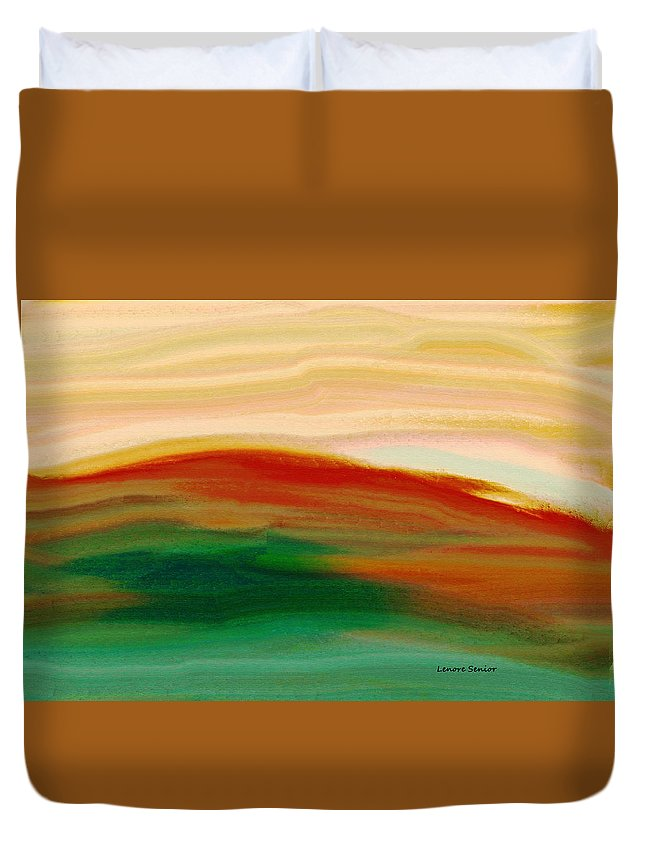 Abstract Duvet Cover featuring the painting Abstract 8 by Lenore Senior
