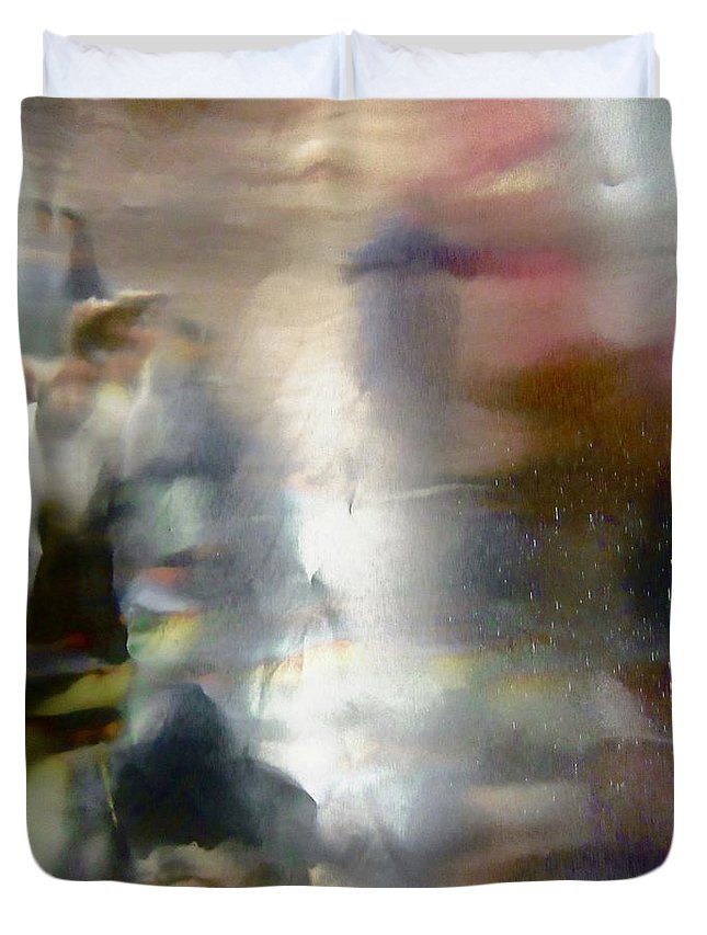 Pink Duvet Cover featuring the photograph Abstract 8036 by Stephanie Moore