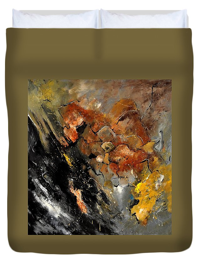 Abstract Duvet Cover featuring the painting Abstract 8811113 by Pol Ledent