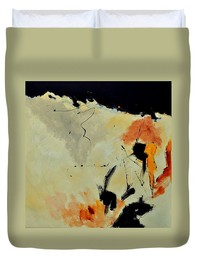 Abstract Duvet Cover featuring the painting Abstract 88112070 by Pol Ledent