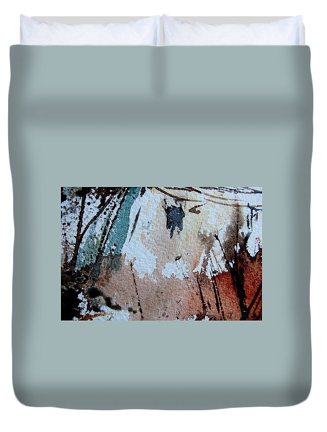 Abstract Duvet Cover featuring the painting Abstract 9036 by Pol Ledent