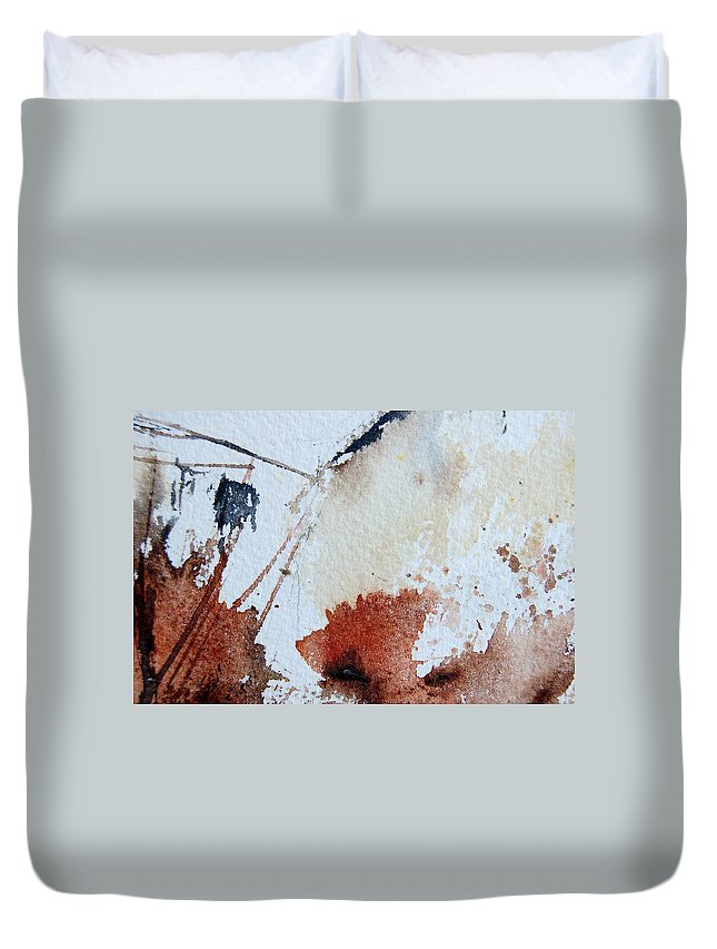 Abstract Duvet Cover featuring the painting Abstract 9037 by Pol Ledent